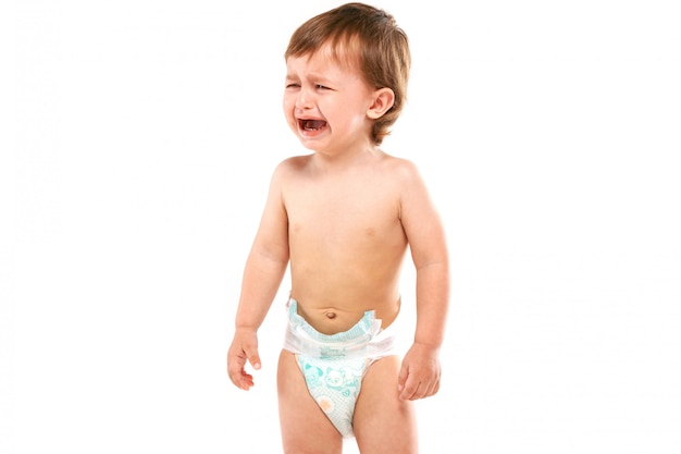 Baby is crying Premium Photo