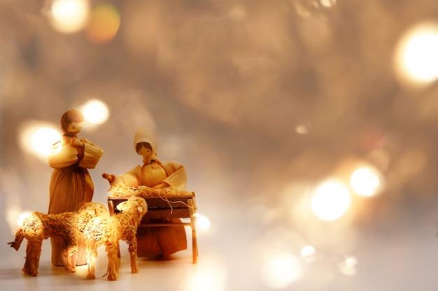 Baby jesus рождественский фон Premium Фотографии