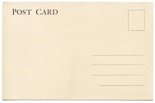 back of vintage blank postcard photo premium download