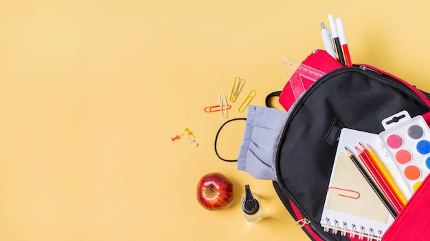 Back to school concept with copy space Premium Photo