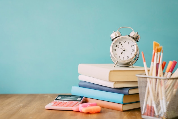 Back to school concept with pile of books Free Photo