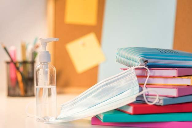 Back to school supplies assortment in new normal Premium Photo