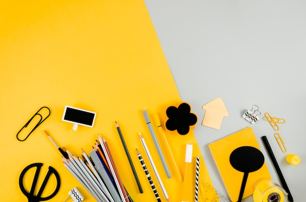 Back to school witch school supplies Free Photo