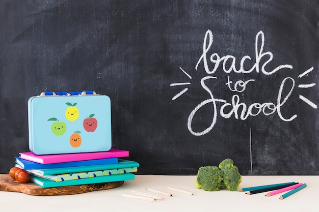 Back to school concept composition Free Photo