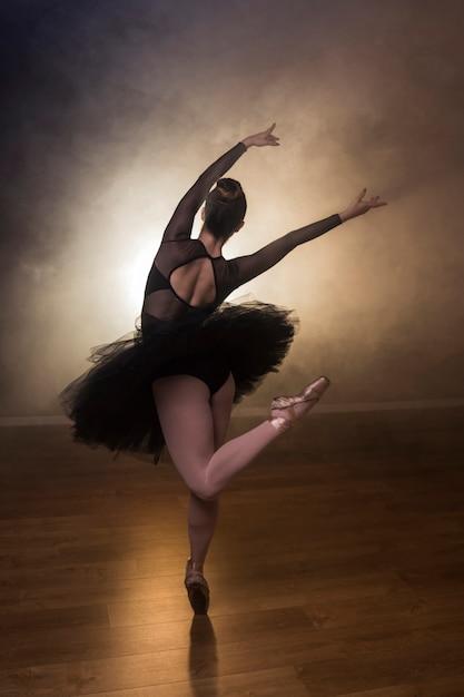 Back view ballet choreography Free Photo
