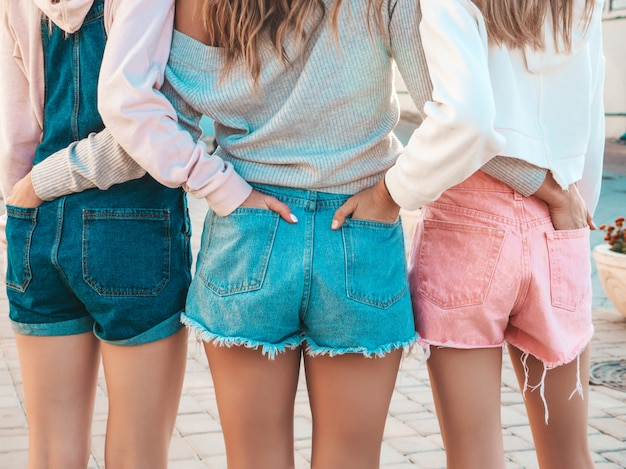 young girls in shorts