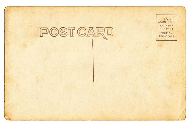 Back of vintage blank postcard Premium Photo