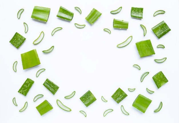 Background of aloe vera, a popular medicinal plant for health and beauty Premium Photo
