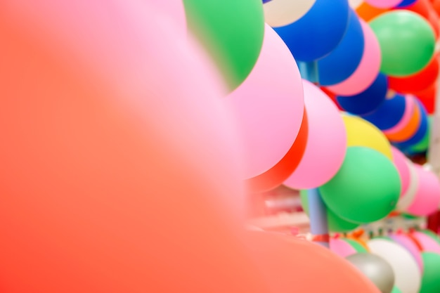 Background And Wallpaper Of Colorful Party Balloon Premium Photo