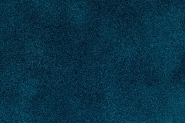 Background of blue velvet textilr, closeup Premium Photo