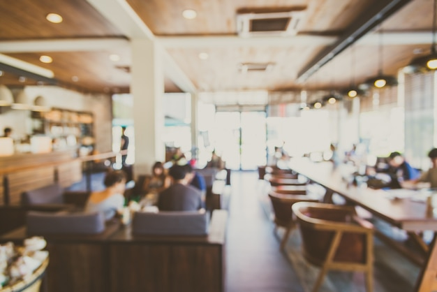 Background Blurry Restaurant Shop Interior Photo Free