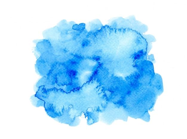 水彩絵の具background.color青い色合いアート紙に描かれました Premium写真