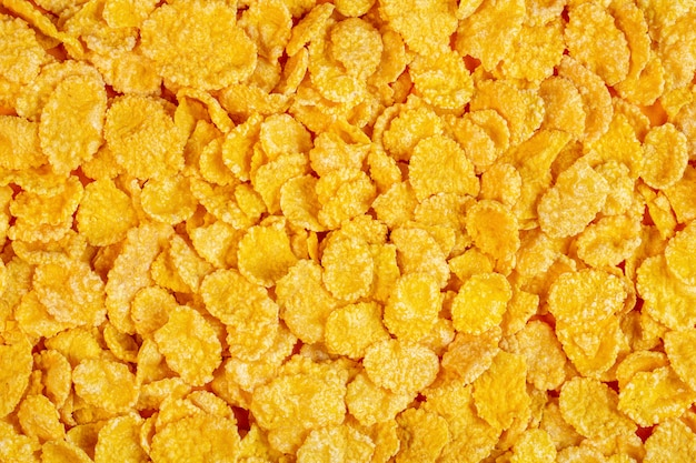 Background of corn flakes top view Free Photo