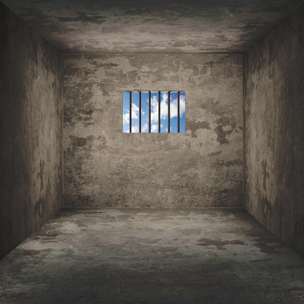 Background of a dark prison cell Free Photo