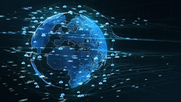 Background digital data 5g connectivity Premium Photo