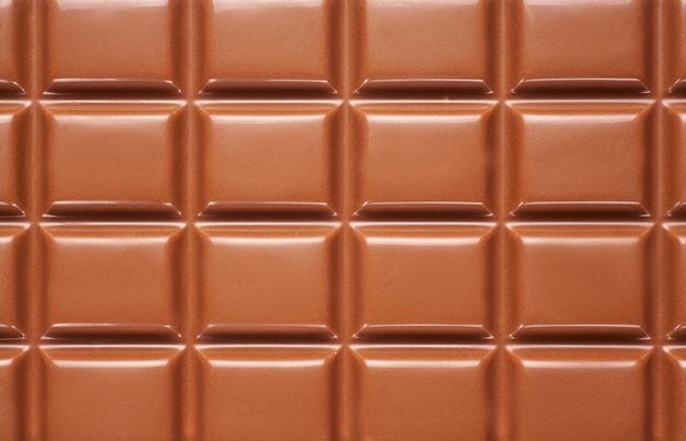 Background from a chocolate bar close up. Premium Photo