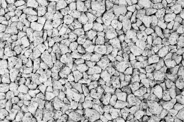 The background of the gravel image used as a walkway in the garden decor Premium Photo