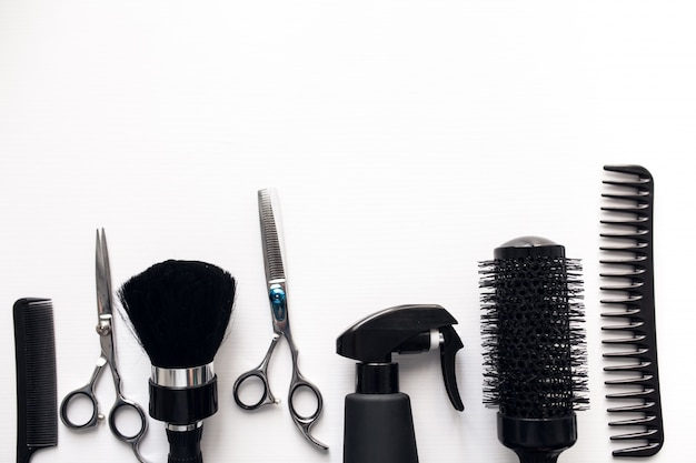 Hairdressing brushes photoshop
