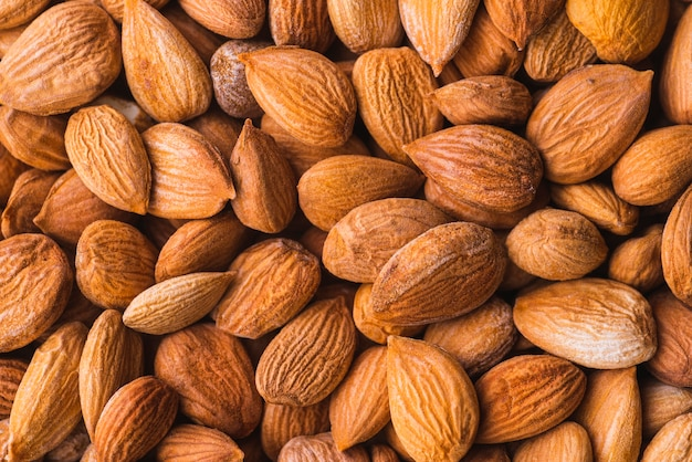 Background of healthy almonds snack Free Photo