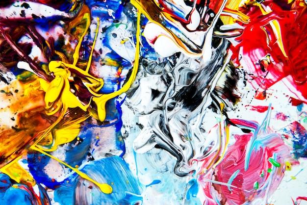 Background image of bright watercolor paint palette Premium Photo