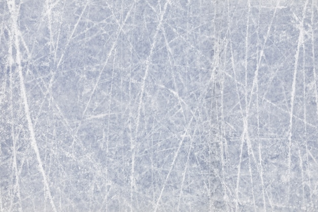 Background image of textured ice on skating rink Premium Photo