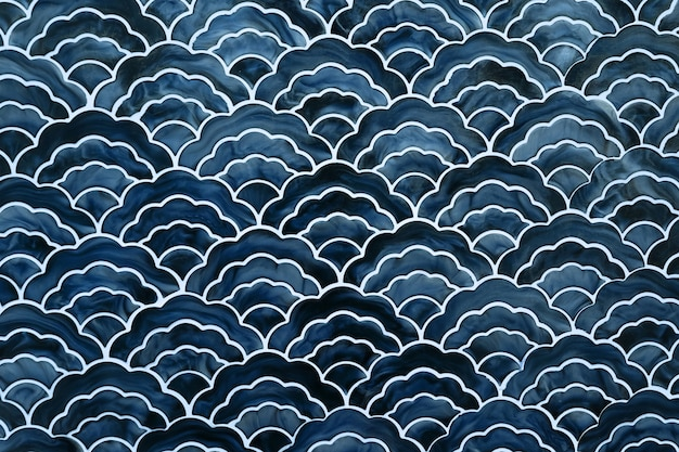 Background of japanese style wave pattern teture Premium Photo