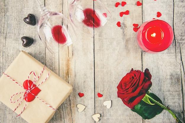 Background love and romantic. selective focus. lover Premium Photo