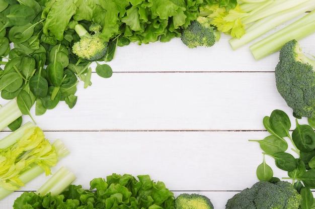 Фон из овощей, концепция здорового питания Бесплатные Фотографии