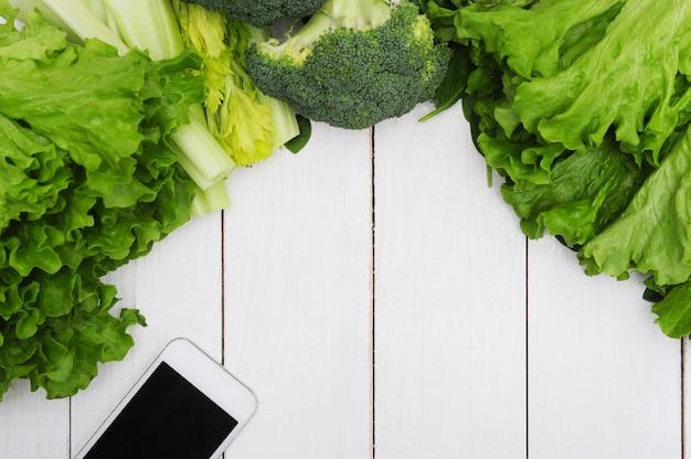 野菜、健康食品のコンセプトで作られた背景 無料写真