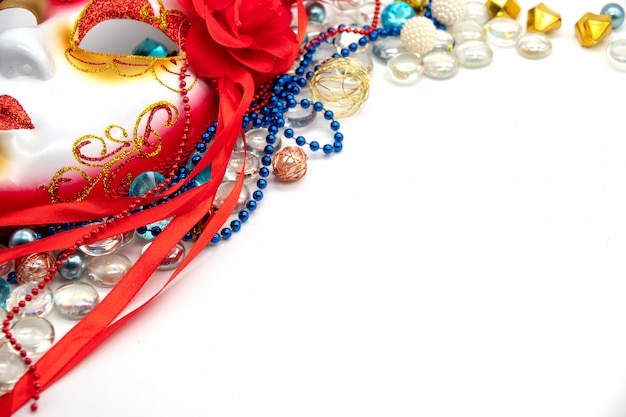 Background for mardi gras or fat tuesday with masquerade mask Premium Photo