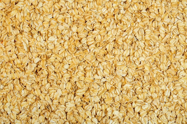 Background of oat flakes top view Free Photo