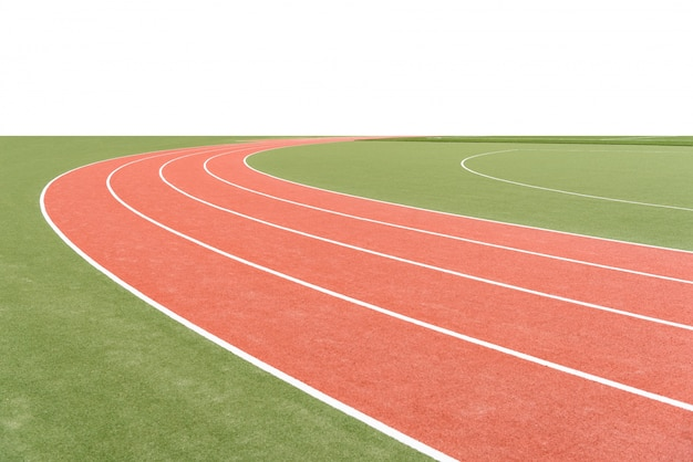 background of atheletics running track with blank area photo