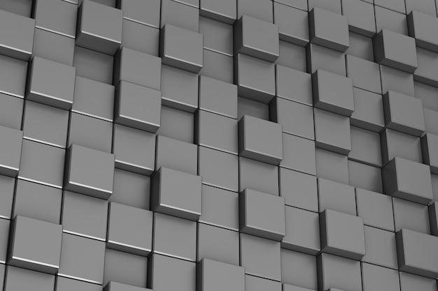 Фон из черных кубиков абстракции Premium Фотографии