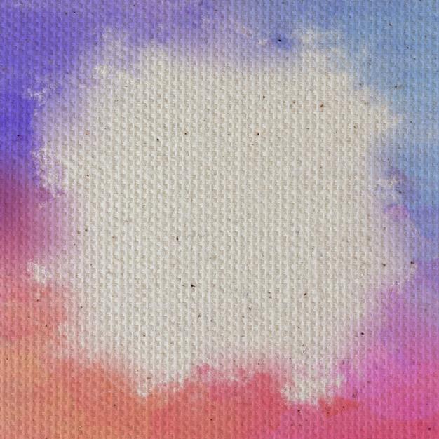 Фон текстуры холста, покрытый белой грунтовкой Premium Фотографии