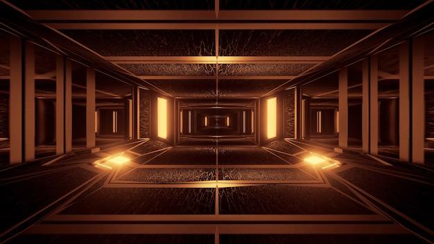 네온 레이저 조명으로 기하학적 모양의 배경 무료 사진