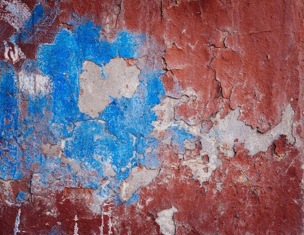 Фон старой красочной пилинг краской стены Premium Фотографии