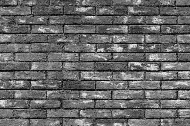 ビンテージのレンガの壁のテクスチャ、黒と白の背景 Premium写真