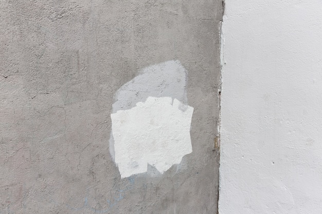 Background of old gray painted wall. aged street wall background, texture. Premium Photo