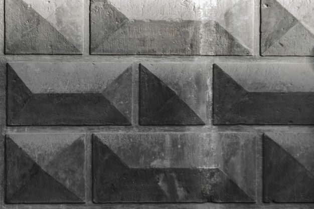 Background of rectangles. facet. gray architectural background Premium Photo