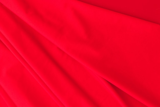Background of red silk curtain fabric Free Photo