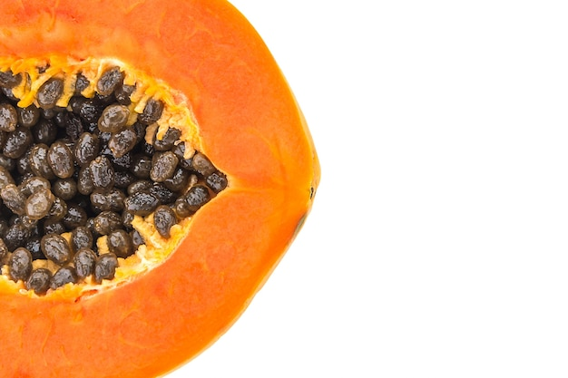background slice papaya yellow color photo