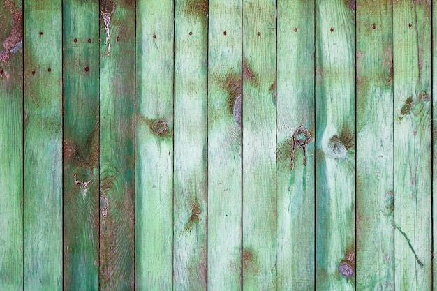 Background with green wooden fence Premium Photo