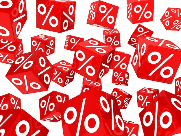 Background with many sale dice Free Photo