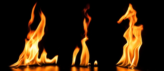 Background with realistic flames Free Photo