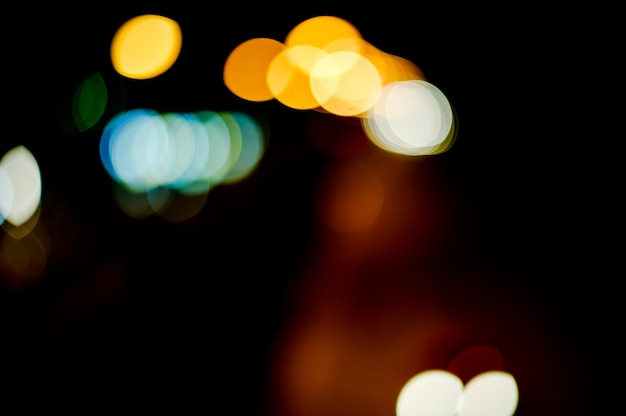 Backgrounds Bokeh Wallpapers Street Lights Cars Running Back And Forth Premium