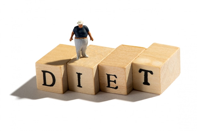 Bad diet leading to obesity and weight problems Premium Photo