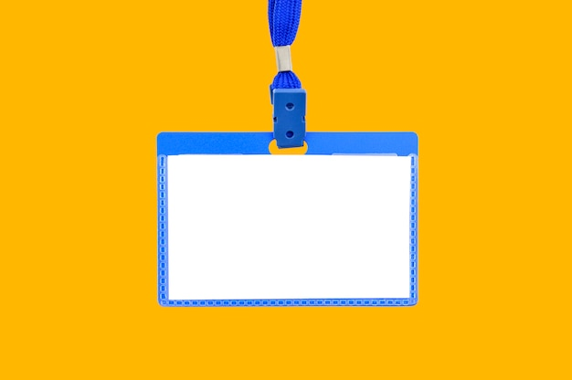 Badge on a yellow background Premium Photo