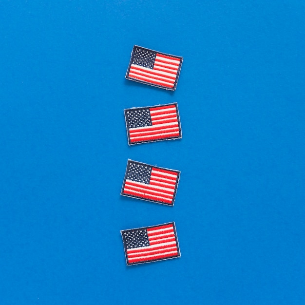 Badges with usa flags Free Photo