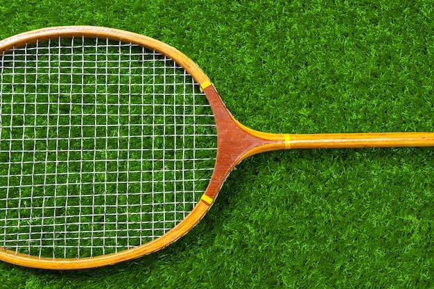 Badminton on grass Premium Photo