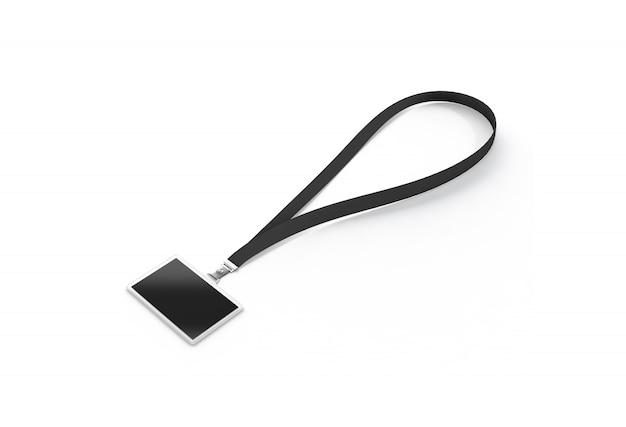 ダークレースと空白の黒い名前bagde Premium写真